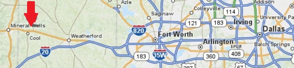 Map Weatherford Texas