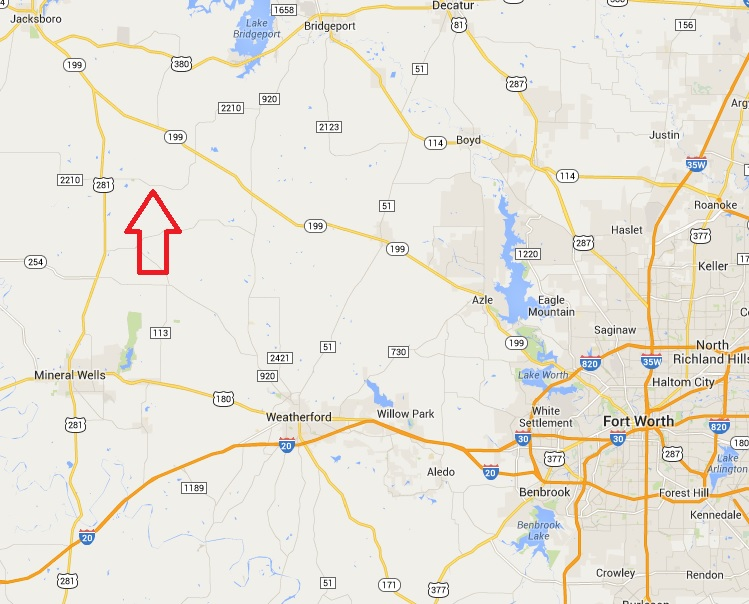 General Map 106 Acre Farm Perrin Texas Sold