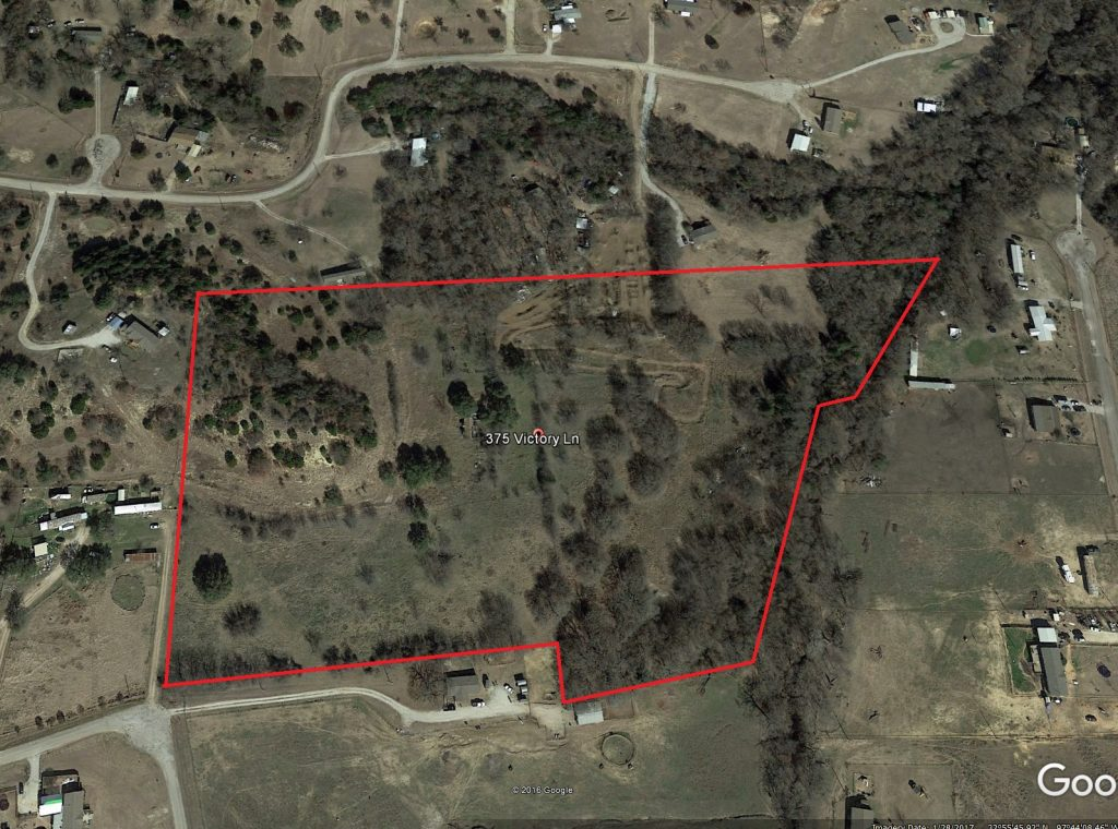 Aerial Map 20 Acres S W Of Springtown Texas Sold Coalson Real Estate